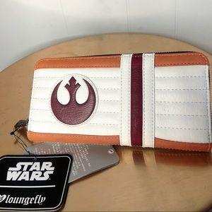Loungefly Star Wars Rebel Pilot Zip Around wallet